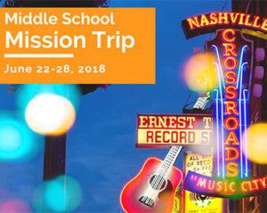 Middle School Mission Trip